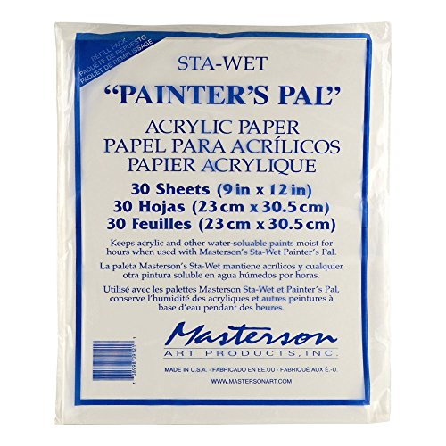 inters Pal Palette Painters Pal acrylic paper pack of 30 9 in. x 12 in. (Wet Palette Refill)
