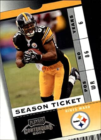 96ad18b8a Amazon.com  2003 Playoff Contenders Football Card  74 Hines Ward Near  Mint Mint  Collectibles   Fine Art
