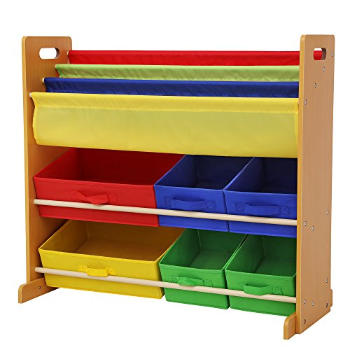 Cheap Deals for SONGMICS Kidsu0027 Toy Storage Unit Sling Bookcase Rack with 6 Fabric Bins and 3-Tier Book Shelf Multicolor UGKR48Y With Lower Price  sc 1 st  Angie Littrellu0027s blog & Cheap Deals for SONGMICS Kidsu0027 Toy Storage Unit Sling Bookcase Rack ...