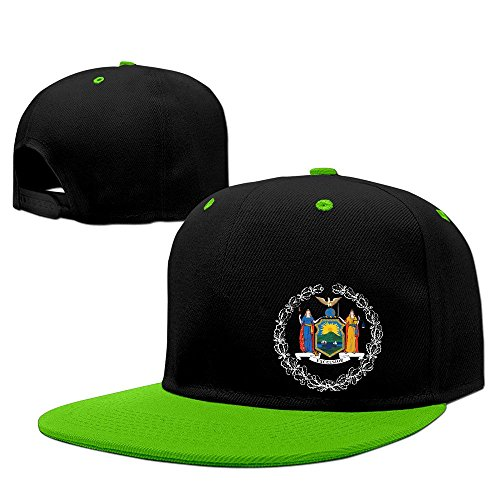 [New York Seal Badge Hip Hop Hat Cap One Size KellyGreen For Baseball Caps] (New Angora Fedora Hat)
