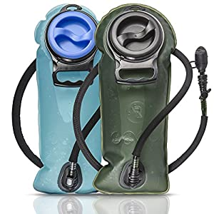 HYDRATION BLADDER - Antibacterial and BPA Free For Great Tasting Water - Leak Proof 2L Replacement Water Reservoir For Outdoor Sports So You Can Stay Hydrated and Perform Better