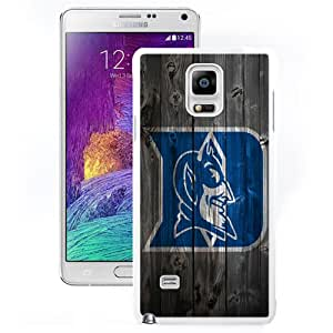 Fashionable And Unique Custom Designed With NCAA Atlantic Coast Conference ACC Footballl Duke Blue Devils 8 Protective Cell Phone Hardshell Cover Case For Samsung Galaxy Note 4 N910A N910T N910P N910V N910R4 White