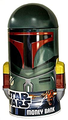 Star Wars - Boba Fett - Shaped Tin Coin Piggy Bank