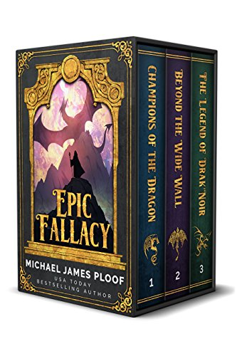 Epic Fallacy is a satirical high-adventure romp through the Fantasy genre in the tradition of Terry Pratchett's Discworld series! Epic Fallacy Trilogy: Contains Champions of the Dragon, Beyond the Wide Wall, The Legend of Drak'Noir by Michael James Ploof