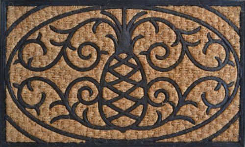 (Imports Décor Rubber and Coir Molded Doormat, Pineapple, 18 by 30-Inch)