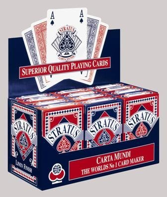 CartaMundi Stratus Playing Cards 12 Packs/Box (Stratus) by CartaMundi