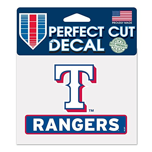 WinCraft MLB Texas Rangers WCR18130014 Perfect Cut Color Decal, 4.5