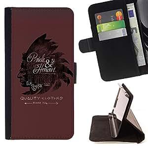 BullDog Case - FOR/Samsung Galaxy A3 / - / INDIAN HEADGEAR FEATHERS MAROON /- Monedero de cuero de la PU Llevar cubierta de la caja con el ID Credit Card Slots Flip funda de cuer