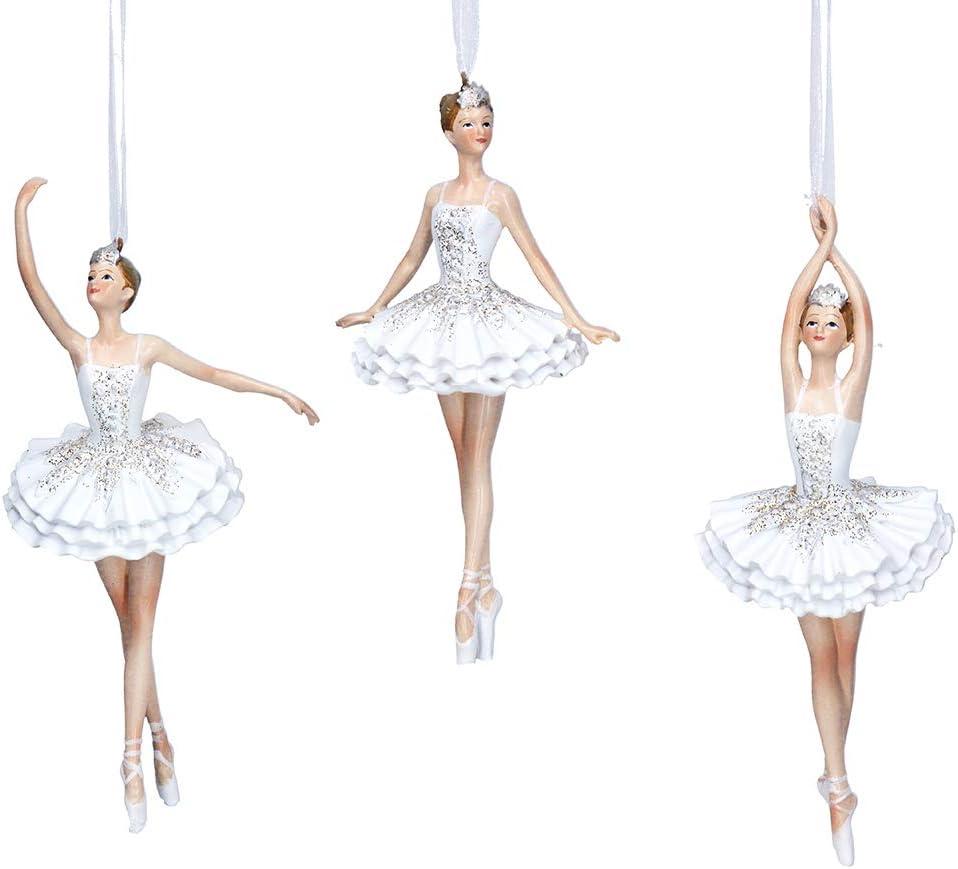 Gisela Graham Gold Glitter Ballerina Ballet Christmas Tree Decoration