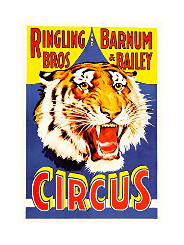 The Art Stop AD Circus Barnum Bailey Ringling BROS Tiger USA Print F12X2242