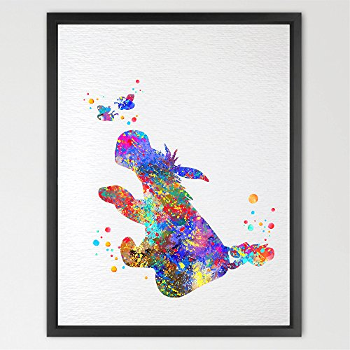 Dignovel Studios 11X14 Eeyore from Winnie the Pooh Inspired Watercolor illustration Art Print Cartoon Characters Art Nursery decor Kids Art Print (Eeyore Character)