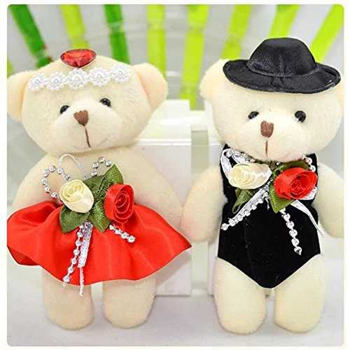 c5f1428a4d 4.7In Lovely Plush Toys Doll Conjoined Bear Animal Carton Teddy Bear Soft  Doll Stuffed Toy for Valentine's Day Gift Couple's One Pair of Wedding  Gifts ...