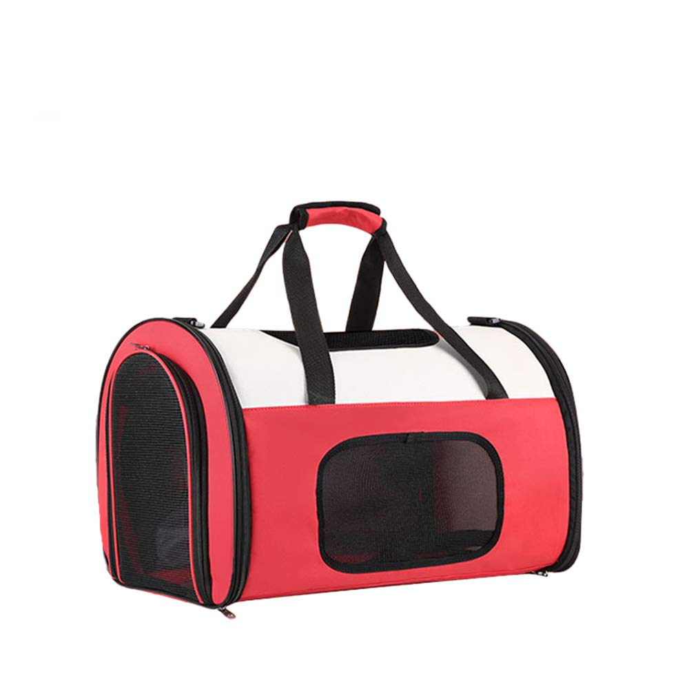 Red Medium Red Medium Cat Carrier Medium Bag Cat Carrier Large 2 Cats Waterproof Soft Sided Handbag Backpack for Cat and Small Dogs,Red,M