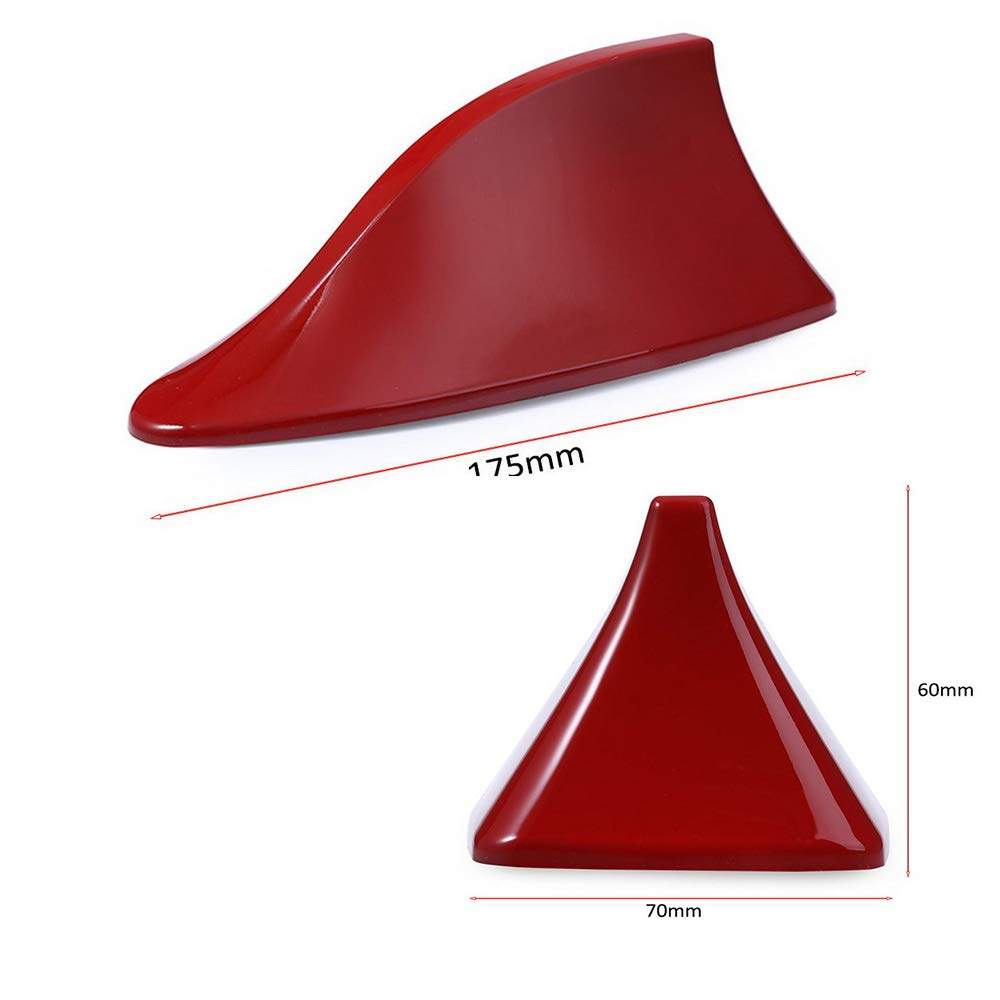 Shark Fin Antenna Red Ceiling Signal Radio Decoration Universal Design UV Protection Boomboost