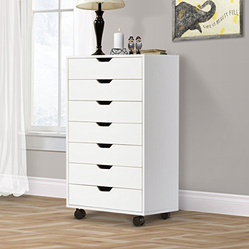 DEVAISE 7-Drawer Chest Dresser, Wooden Storage Cabinet for Closet / Office, (Seven Drawer Chest)