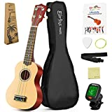 Soprano Rainbow Ukulele Beginner Pack-21 Inch w Gig Bag How to Play Songbook Digital Tuner All in One Kit