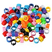 100PCS Pigeon Leg Plastic Foot Clip Rings Band for Dove Birds Chickens Tags Mixed Color