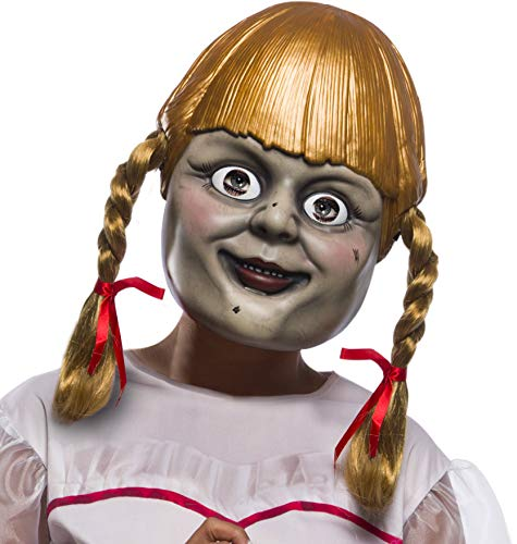 Rubie's Annabelle Comes Home Adult Mask with Pigtails, As As Shown, One Size]()