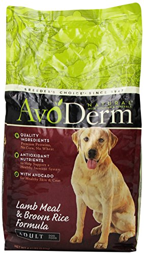BREEDER'S CHOICE 528025 6-Pack Avoderm Natural Lamb Meal and Rice Dry Food for Dogs, 4.4-Pound