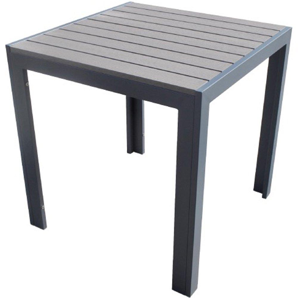 人工木テーブル正方形 ダークブラウン B073P2Z4HH