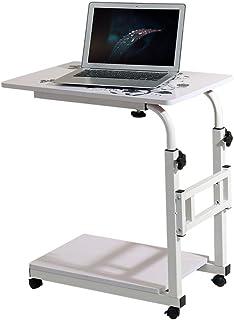 PENGFEI Tavolino Portatile Multifunzione Letto Divano Tavolino Mobile Regolabile in Altezza Scrivania con La Puleggia, 2 Colori (Colore : Nero, Dimensioni : 60X40cm)