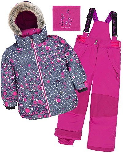 Deux par Deux Girls' 2-Piece Snowsuit Frozen Buds Fushia, Sizes 4-14 - 14 by Deux par Deux