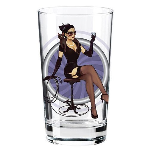 Catwoman DC Bombshell Series 'Toon Tumbler 16 Oz. Pint Glass