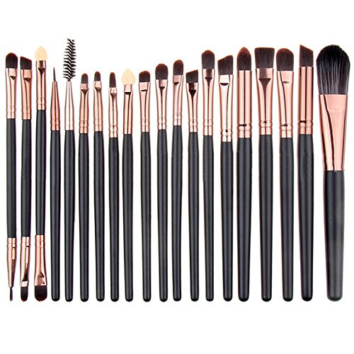 Summifit 20 Pcs Eye Brush Set Eyeshadow Eyeliner Lip Blending Toiletry Kit Professional Powder Foundation Mineral Makeup Tools (Hot Dollar Costumes)