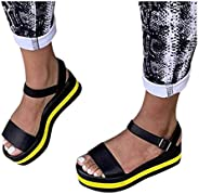 New Sandals for Women Dressy Wedge Platform Espadrille Sandals Beach Roman Women'S Sandals Women'