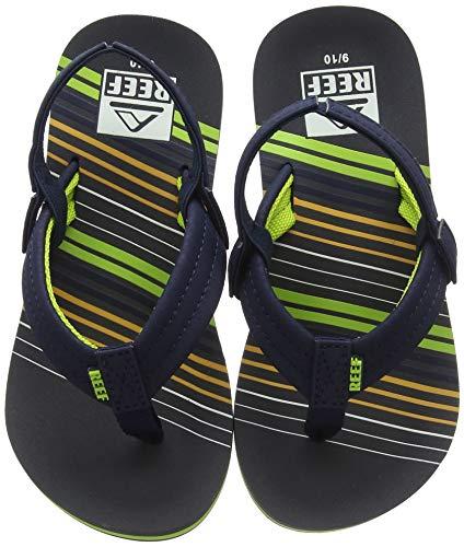 Reef Baby Little AHI Sandal, Stripe Green, 7-8 Medium US -