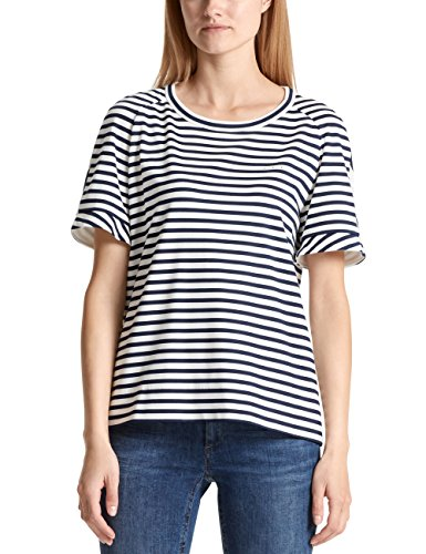 Marc Cain Additions Damen T-Shirt Mehrfarbig (Space Blue 393) XyoXJ8oLd