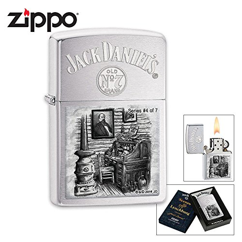 Zippo Daniels Lynchburg Brushed Windproof product image