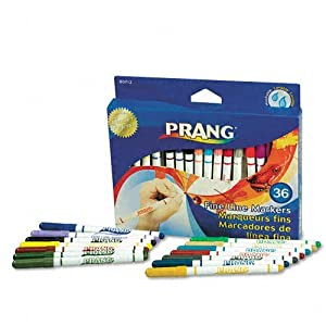 Prang Fine Line Markers, Washable