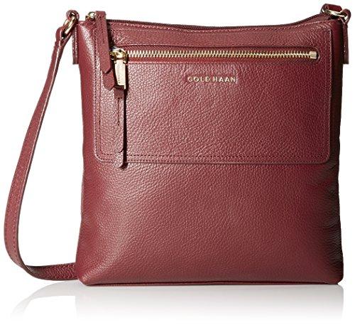 Cole Haan Acadia Leather Cross-Body Bag - Zinfandel - One...