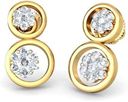 BlueStone Women's18kt Yellow Gold and Diamond Dorita Earrings