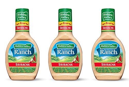 Hidden Valley the Original Ranch Salad Dressing in Sriracha Flavor 16 Fl Oz (3 Pack) by Hidden Valley