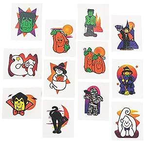 72 halloween glitter tattoos