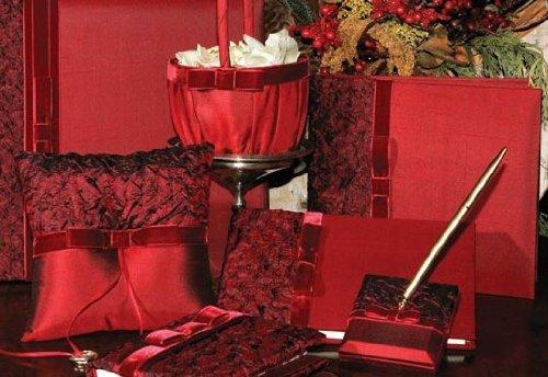 Beverly Clark Serenade Collection (Photo Album, Guest Book, Pen, Ring Pillow & Flower Girl Basket) (Ivy Lane Design) (Book Guest Princess Collection)