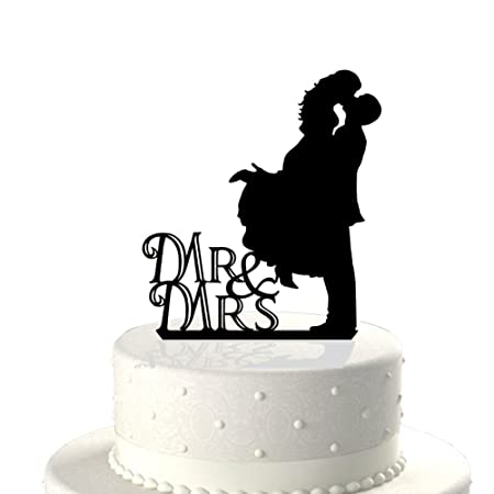 Acrylic bride and groom kiss silhouette wedding engagement cake acrylic bride and groom kiss silhouette wedding engagement cake topper pick cake decoration accessories black junglespirit Image collections