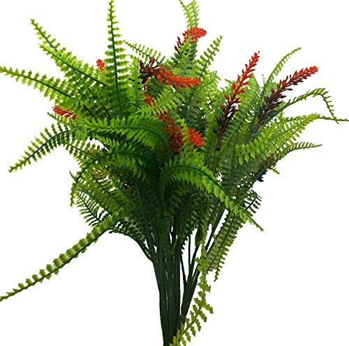 kang ing Artificial Plants,Fake Plants, 4PCS Artificial Persian Grass With Flowering Spikes Wheat Grass Shrubs Greenery Bush Home Kitchen Office Indoor Outdoor Spring (Fall Grass)