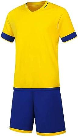 UQD Traje de fútbol para niños Traje de Entrenamiento de fútbol para Hombres Camisa de fútbol de Manga Corta para competición deportiva-Child120code150-160CM: Amazon.es: Hogar