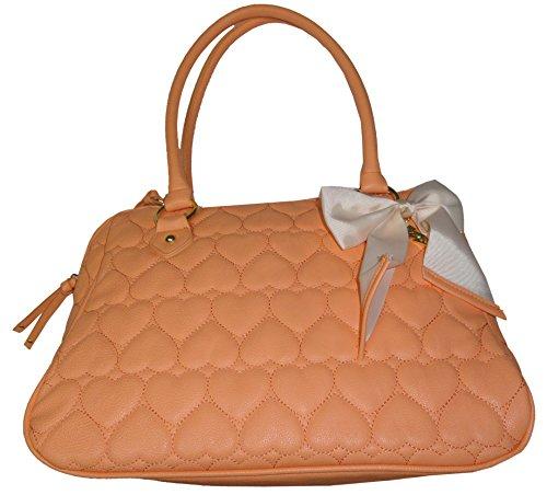 Betsey Johnson Purse Handbag Be Mine East/West Satchel Sherbert (Betsey Hobo Johnson)