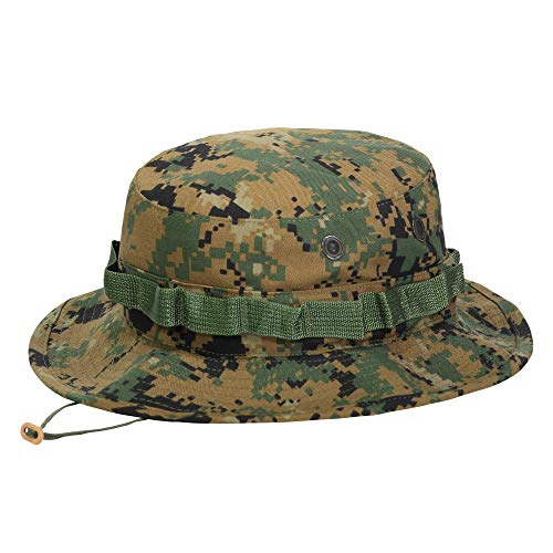 bb9dbb950c55e7 Genuine Issue Hat, Boonie GI USMC, Woodland MarPat, New, Size 7.25 - M