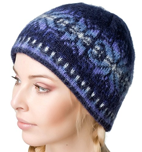 Winter Wool Hat Beanie Cap Fair Isle Authentic Icelandic Wool for Women and Men 2 Ply Knitted Extra Warm by Freyja (Icelandic Wool Hats)