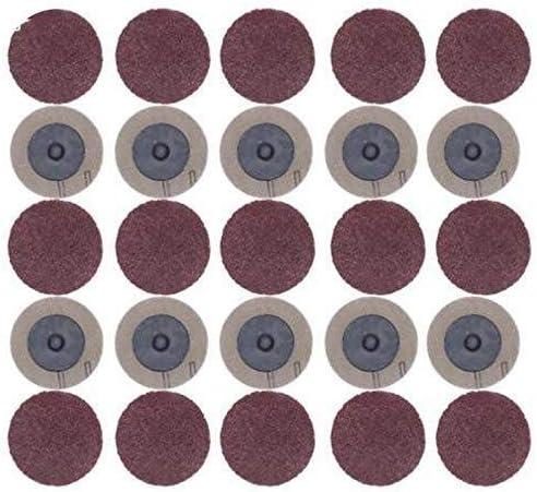 ZGQA-GQA Roloc 50mmの40の60 80 120グリットサンダーペーパーディスク砥石研磨ロータリーツールアクセサリー用の100pcsサンディングディスク
