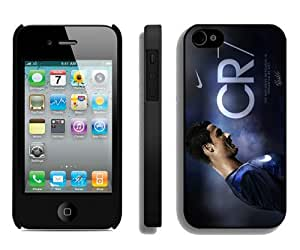 Beautiful And Unique Designed Case For iPhone 4 With Soccer Player Cristiano Ronaldo 16 Black Phone Case