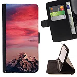 Momo Phone Case / Flip Funda de Cuero Case Cover - Sunset Colores Rosa Climber - Samsung Galaxy S6 Edge Plus / S6 Edge+ G928