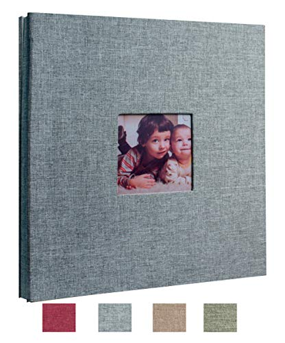 Beautyus Self Adhesive Stick Photo Album Magnetic Scrapbook DIY Anniversary Memory Book for Baby Wedding Family Albums Holds 3x5, 4x6, 5x7, 6x8, 8x10 Photos (Gray, M) (Photo Album 12x12)