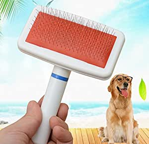 Fromzerotohero Pet Dog Hair Remover Brush White Air Bag Handle Puppy Comb Pet Pet Teddy Golden Hair VIP Pet Beauty Comb
