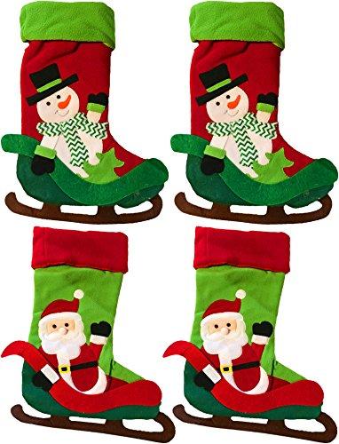 Holiday Christmas Fleece Snowman & Santa Sleigh 22